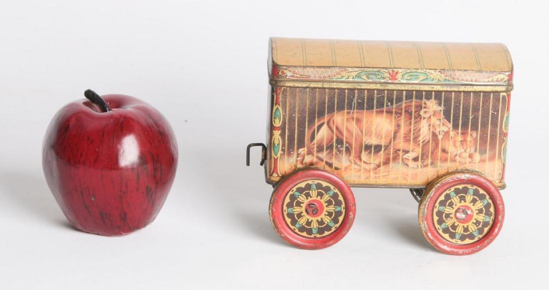A TIN LITHO CIRCUS CAR BISCUIT TIN - 7