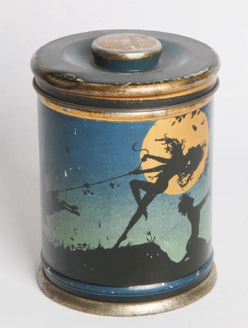 A BEANIEBOX TIN LITHO BISCUIT TIN