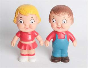 TWO VINYL CAMPBELLS SOUP KIDS FIGURES