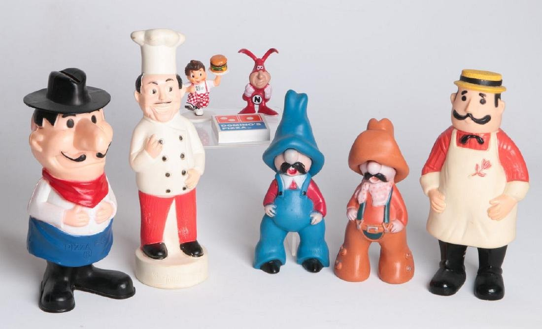 SEVEN FAST FOOD AND PIZZA ADVERTISING MASCOTS