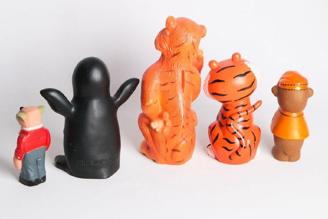 FIVE FIGURAL ANIMAL ADVERTISING MASCOTS - 2
