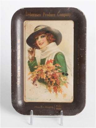 A ME MUSSELMAN TIN LITHO ADVERTISING TRAY