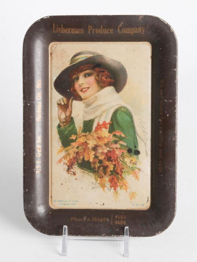 A M.E. MUSSELMAN TIN LITHO ADVERTISING TRAY