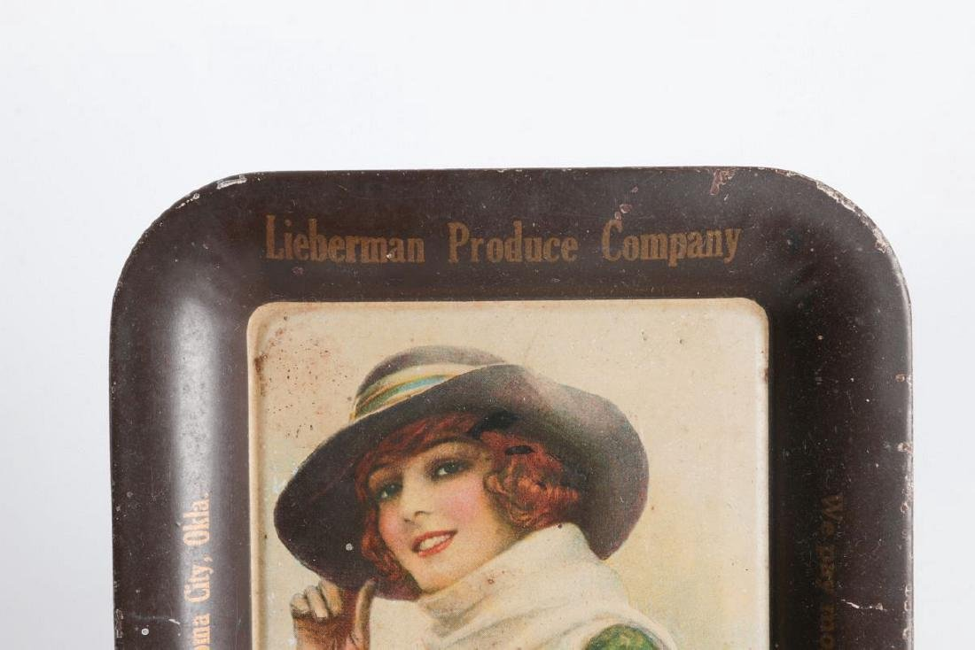 A M.E. MUSSELMAN TIN LITHO ADVERTISING TRAY - 2