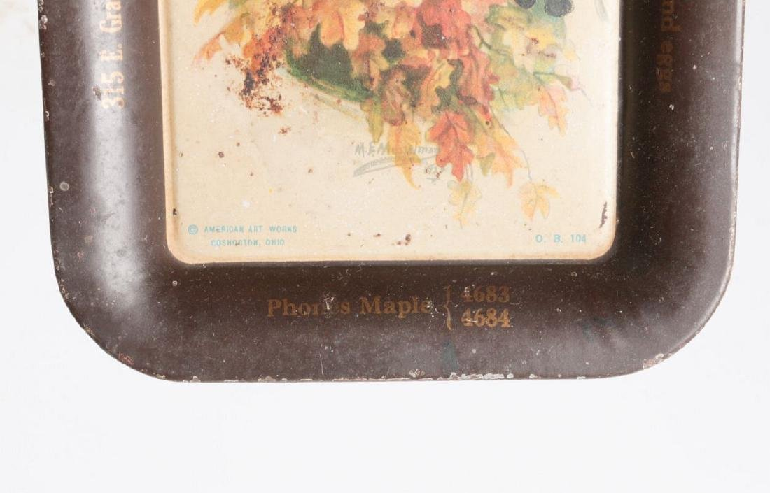 A M.E. MUSSELMAN TIN LITHO ADVERTISING TRAY - 5