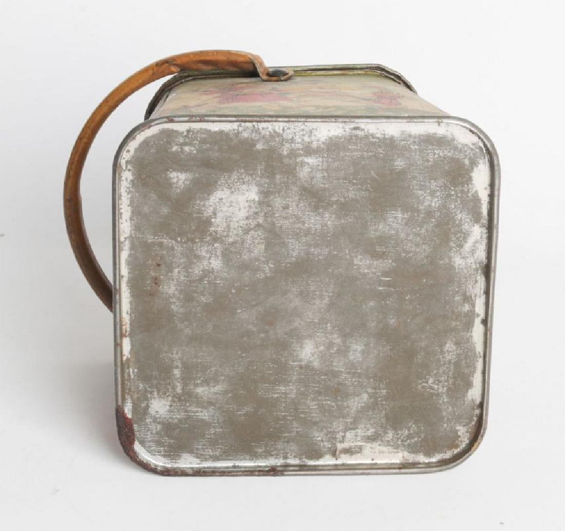 A R. KLAUSSON TIN LITHO HANDLED BISCUIT TIN - 9