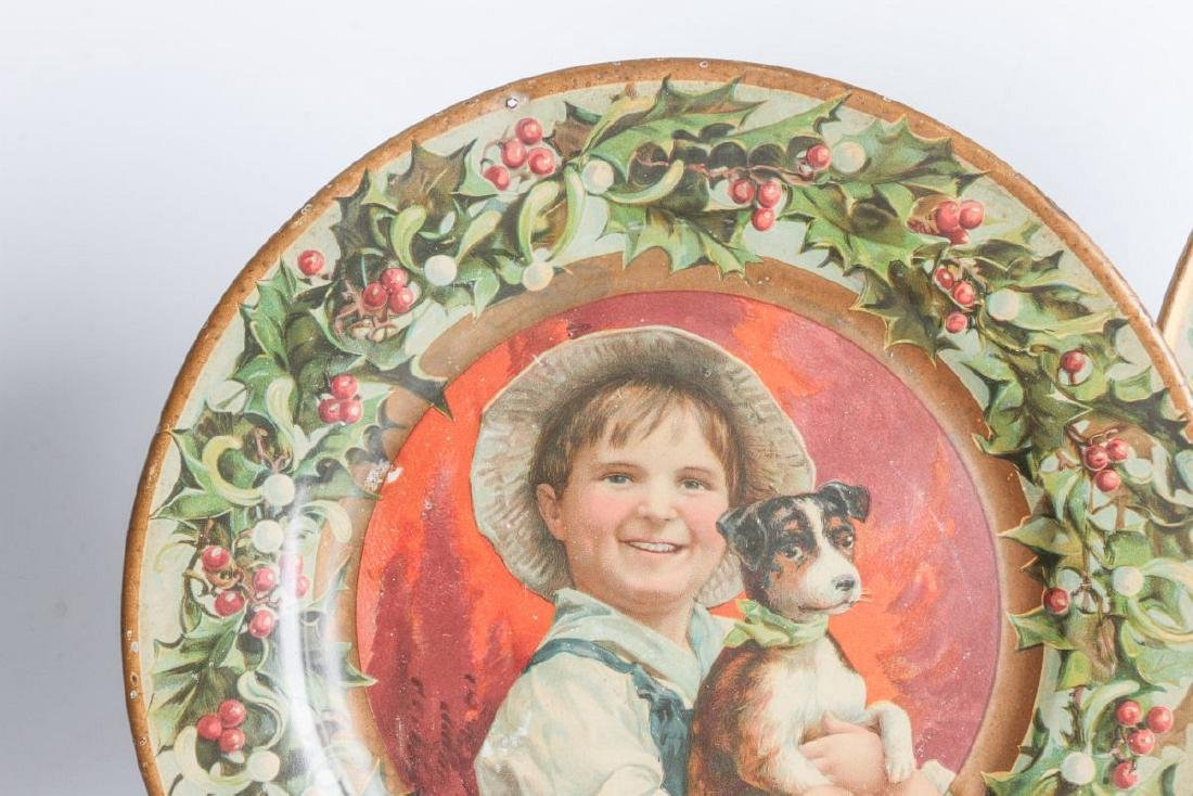 TWO TIN LITHO PLATES WITH CHILDREN'S PORTRAITS - 3