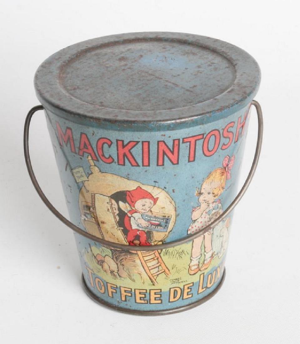 A MACKINTOSH TIN LITHO HANDLED TOFFEE DE LUXE PAIL