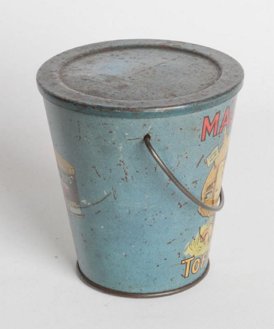 A MACKINTOSH TIN LITHO HANDLED TOFFEE DE LUXE PAIL - 2