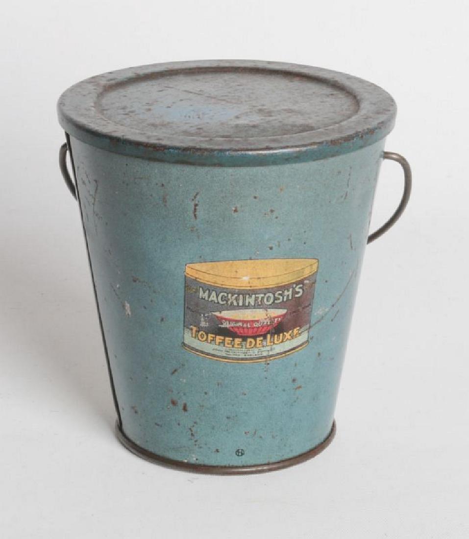 A MACKINTOSH TIN LITHO HANDLED TOFFEE DE LUXE PAIL - 3