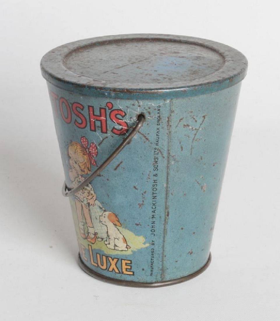 A MACKINTOSH TIN LITHO HANDLED TOFFEE DE LUXE PAIL - 4