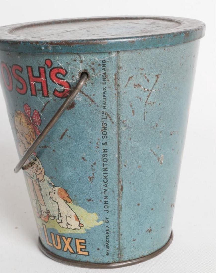 A MACKINTOSH TIN LITHO HANDLED TOFFEE DE LUXE PAIL - 5