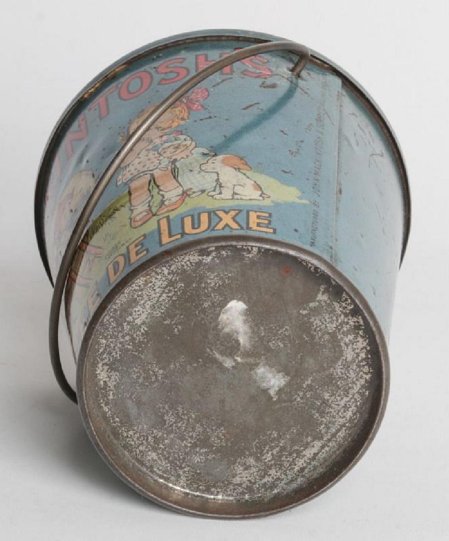 A MACKINTOSH TIN LITHO HANDLED TOFFEE DE LUXE PAIL - 7