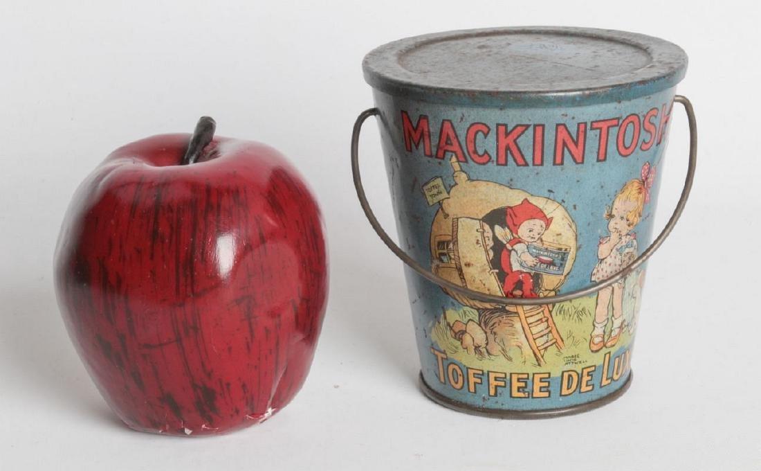 A MACKINTOSH TIN LITHO HANDLED TOFFEE DE LUXE PAIL - 8