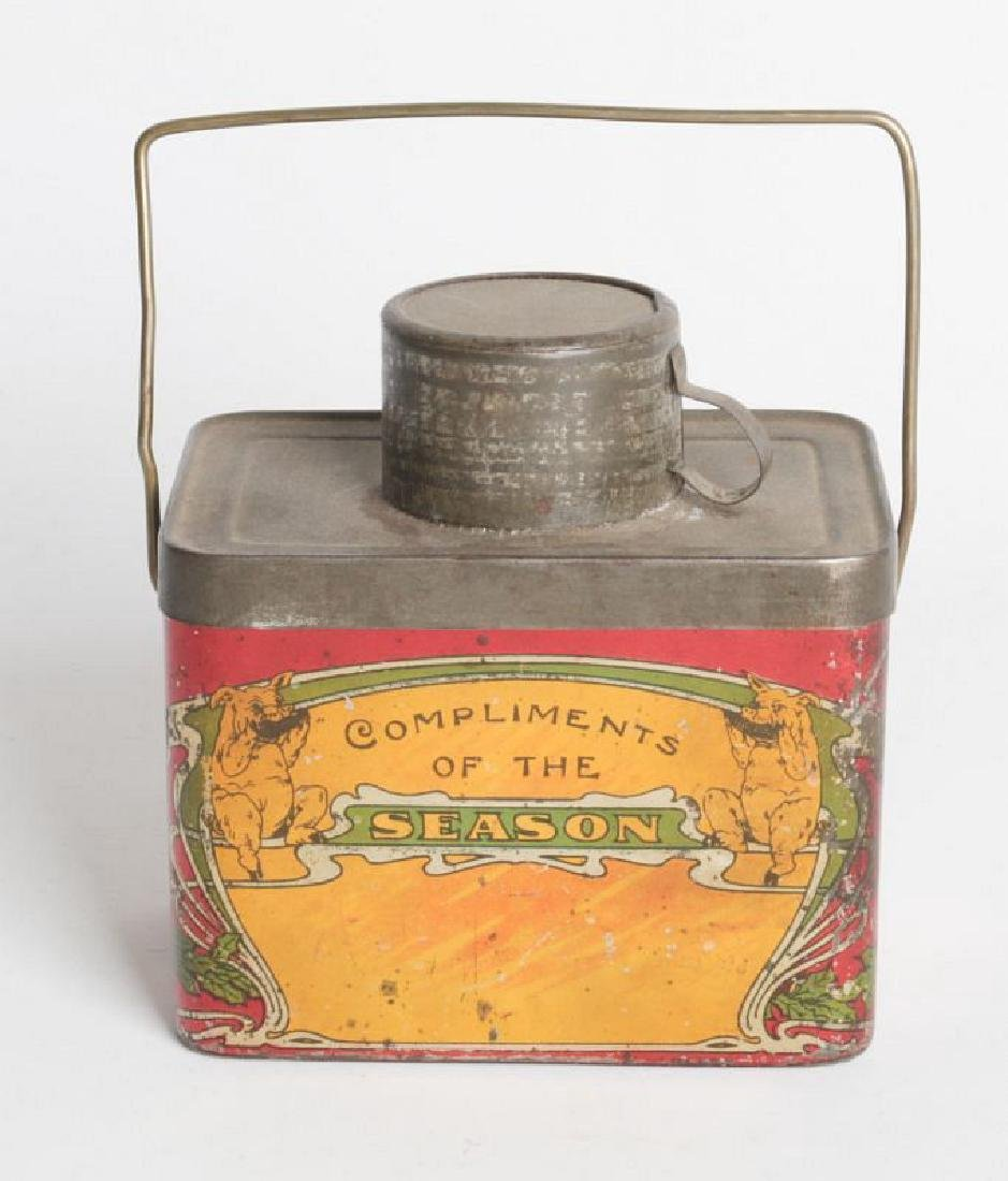 A TIN LITHO 'DINNER BUCKET' TYPE TIN WITH CUP - 2