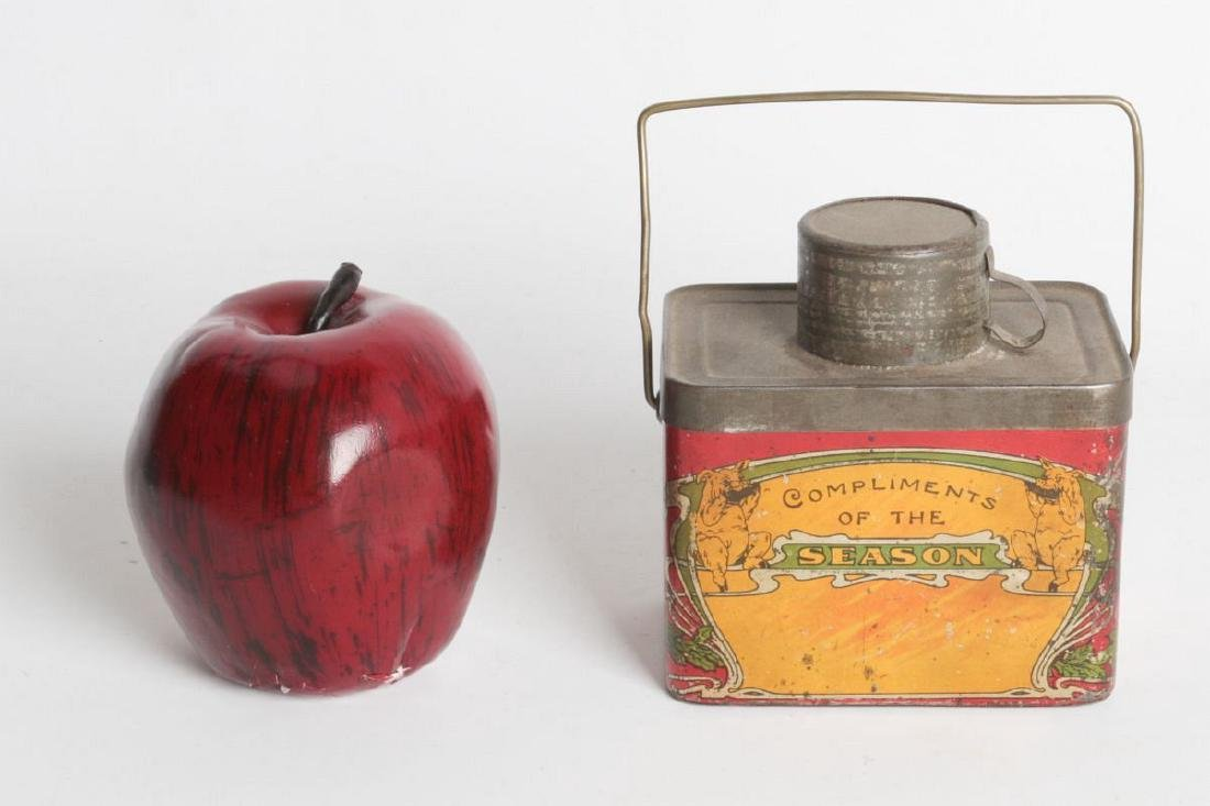 A TIN LITHO 'DINNER BUCKET' TYPE TIN WITH CUP - 3