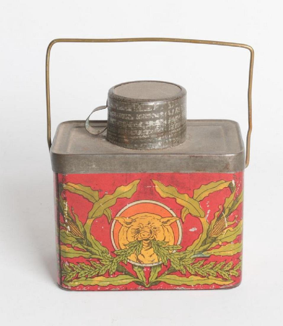 A TIN LITHO 'DINNER BUCKET' TYPE TIN WITH CUP - 4