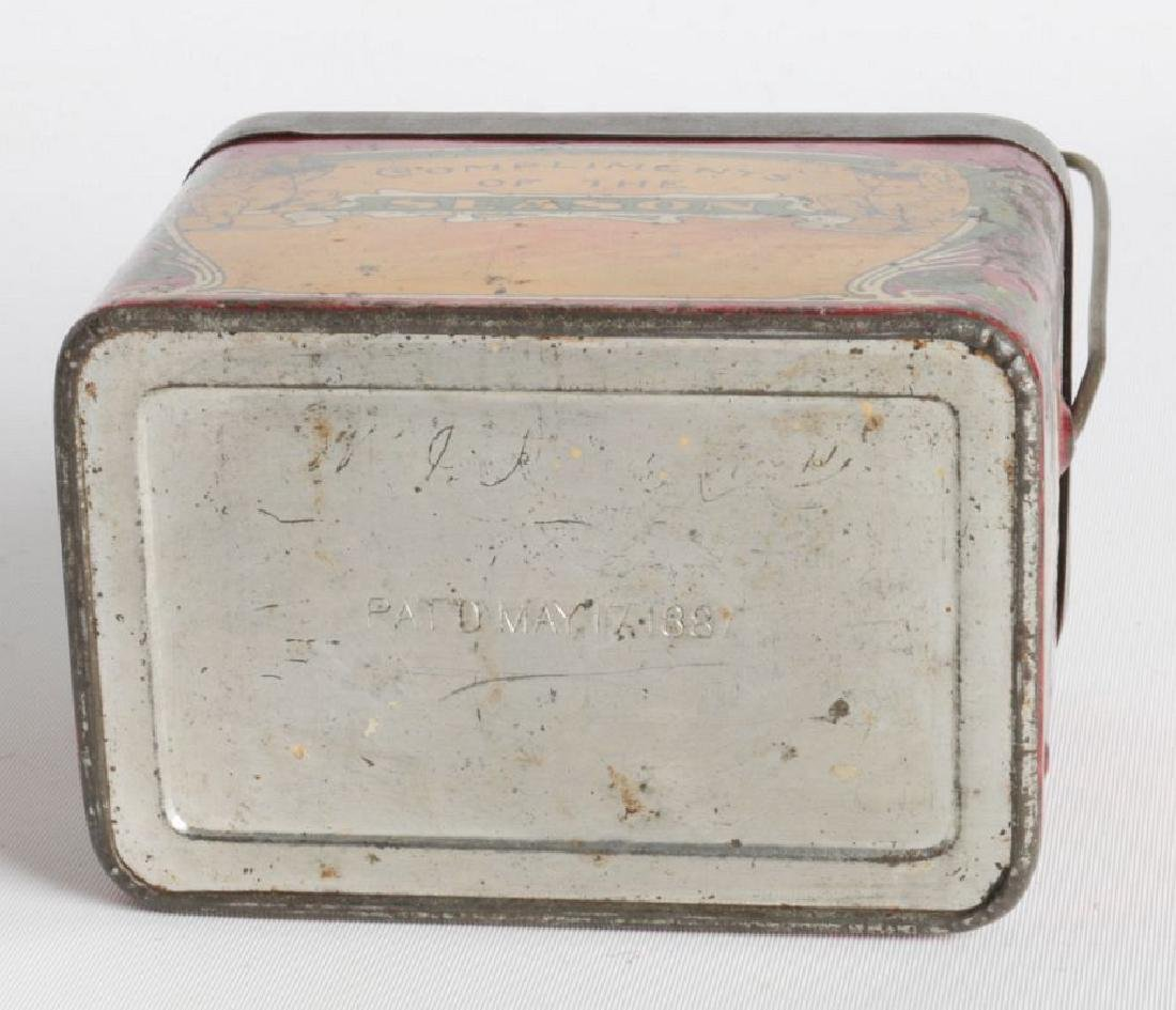 A TIN LITHO 'DINNER BUCKET' TYPE TIN WITH CUP - 6