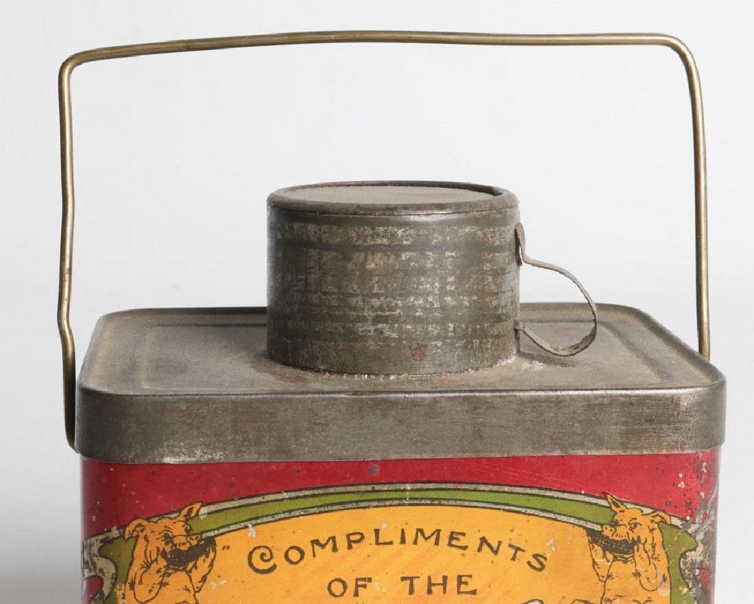 A TIN LITHO 'DINNER BUCKET' TYPE TIN WITH CUP - 7