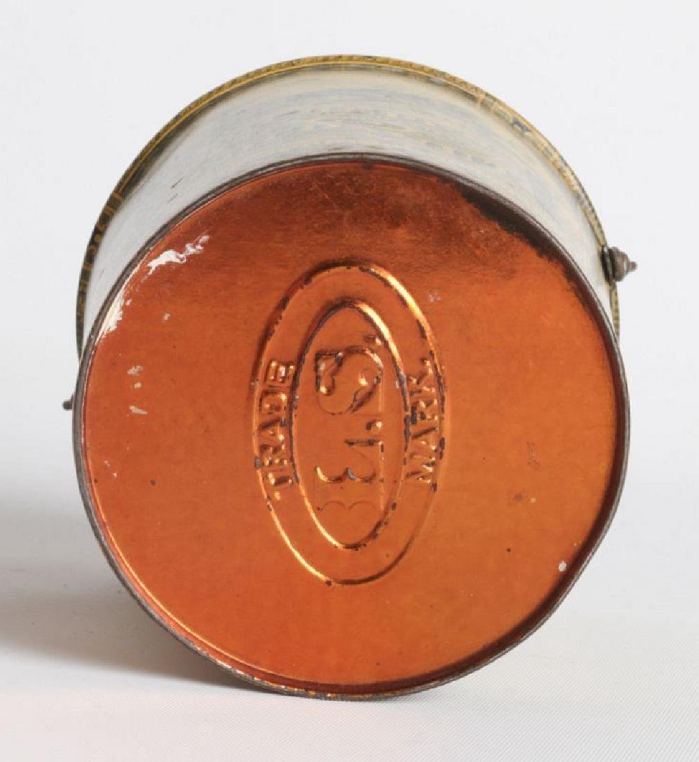 A SCHEPP'S TIN LITHO HANDLED COCOANUT TIN - 7
