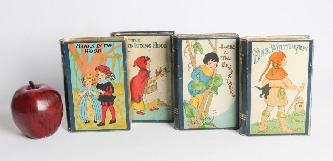 FOUR FAIRY TALE BOOK-FORM TIN LITHO MONEY BOXES - 2