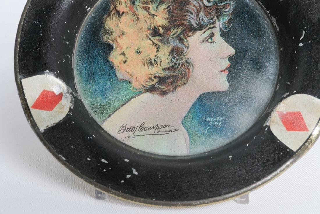 FOUR HENRY CLIVE PLAYING CARD MOTIF TRAYS W/LADIES - 7