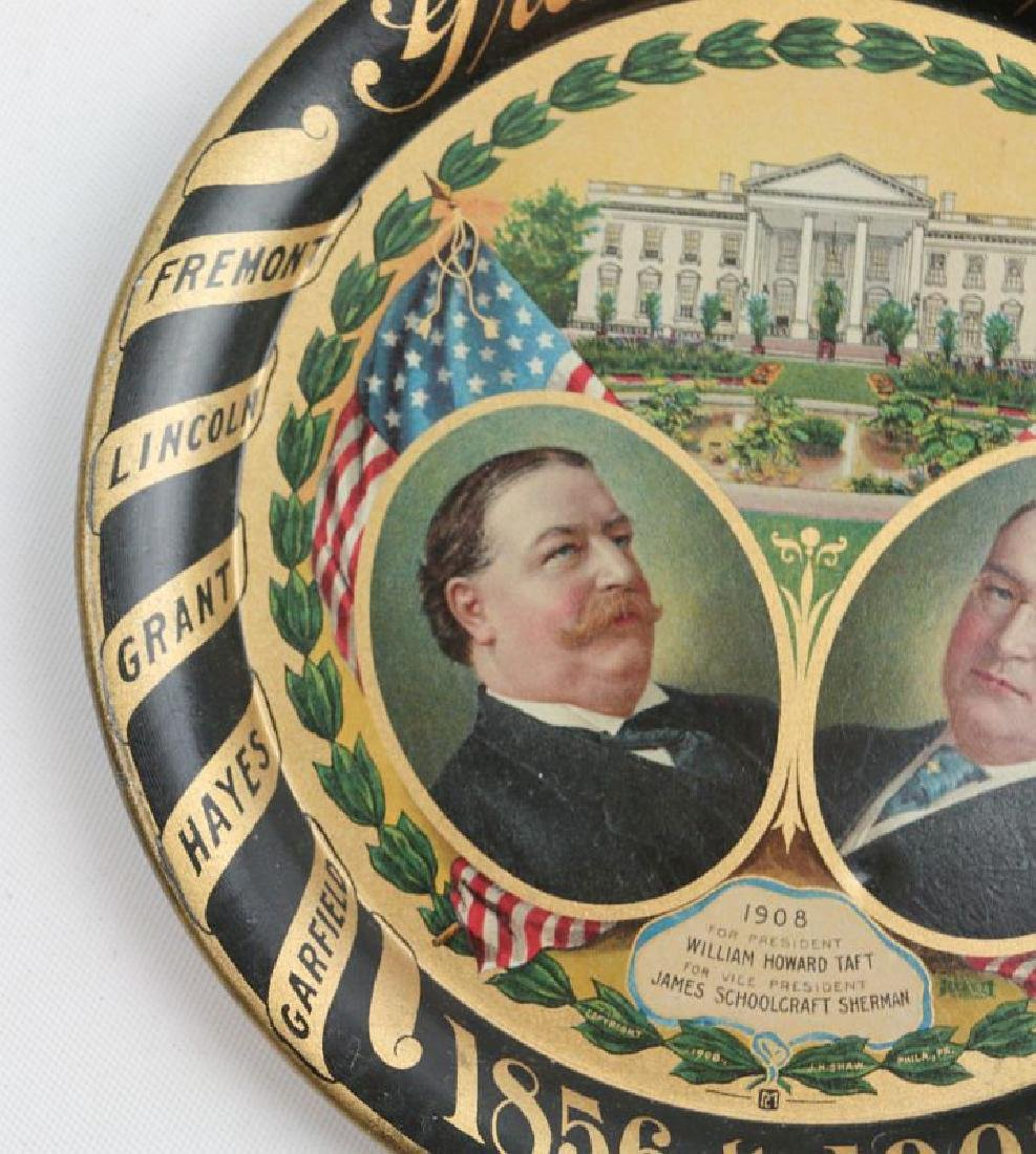 A 1908 GRAND OLD PARTY TIN LITHO POLITICAL TRAY - 2
