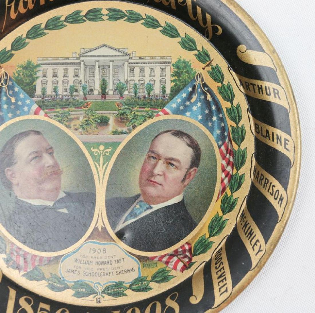 A 1908 GRAND OLD PARTY TIN LITHO POLITICAL TRAY - 3