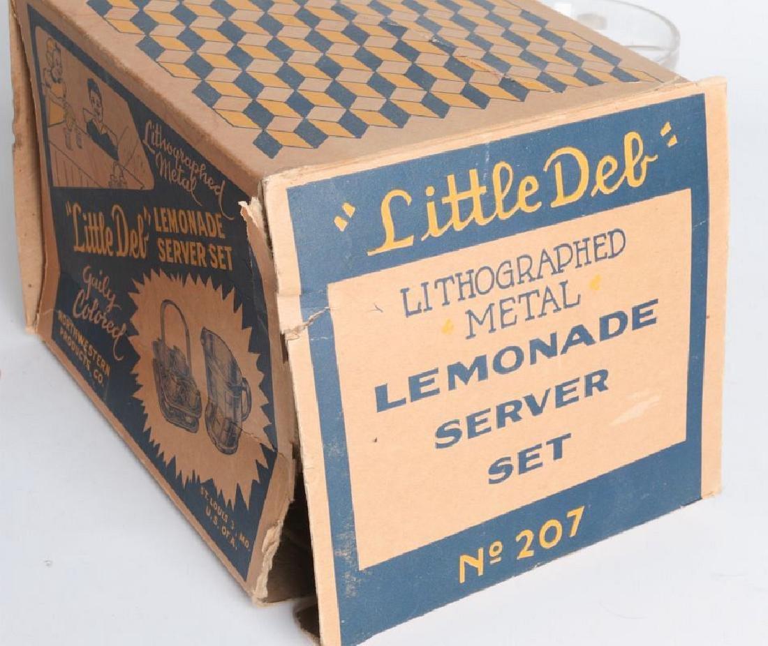 A LITTLE DEB CHILD'S LEMONADE SERVICE SET WITH BOX - 8