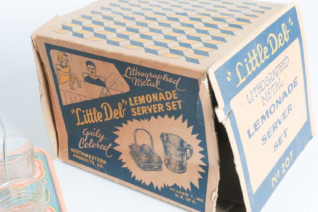 A LITTLE DEB CHILD'S LEMONADE SERVICE SET WITH BOX - 9