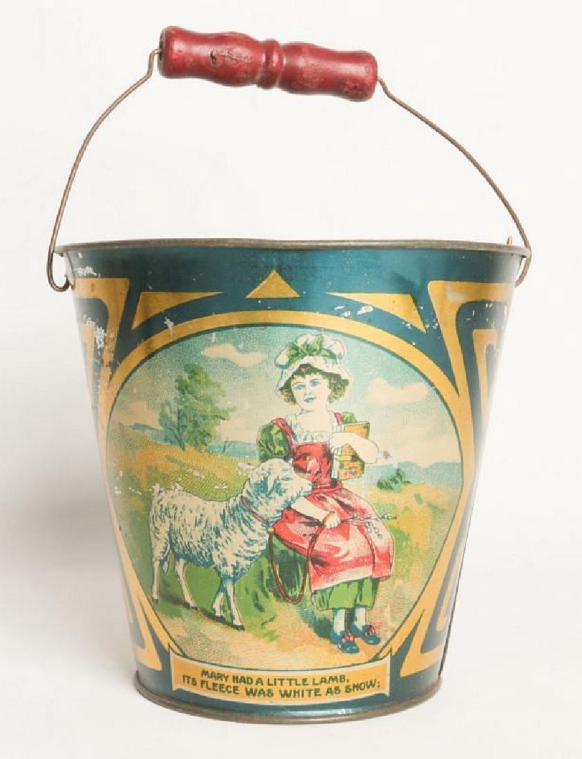 A CIRCA 1905 VICTORIAN CHILD'S TIN LITHO SAND PAIL - 4