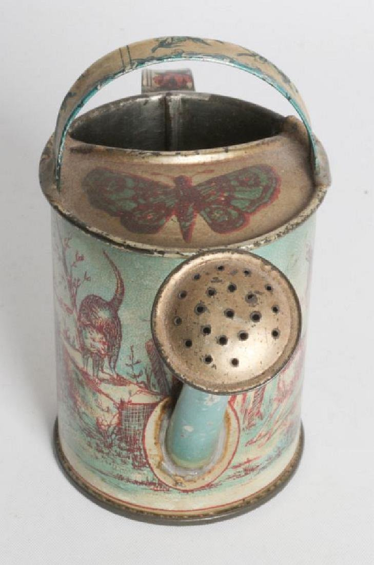 A VICTORIAN CHILD'S TIN LITHO WATERING CAN - 3