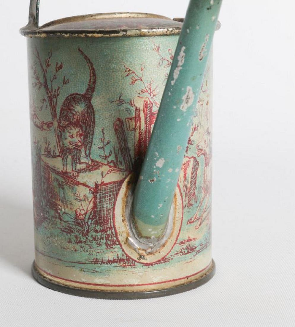 A VICTORIAN CHILD'S TIN LITHO WATERING CAN - 4