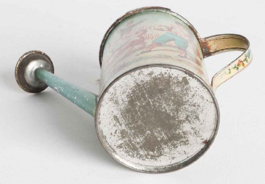 A VICTORIAN CHILD'S TIN LITHO WATERING CAN - 6