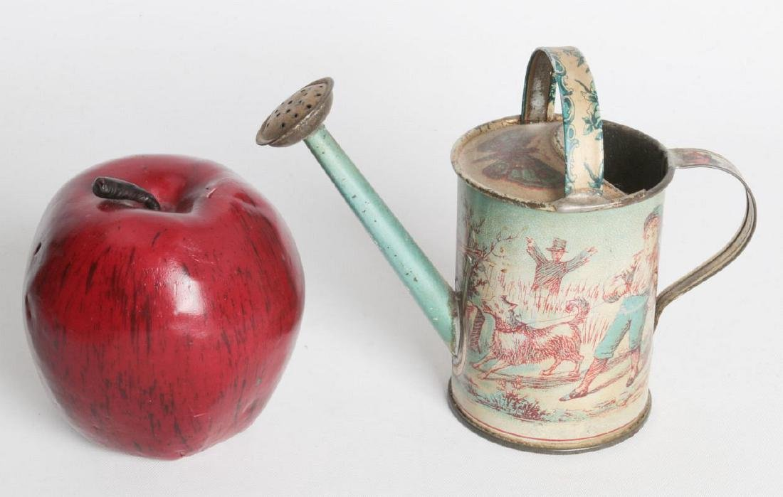 A VICTORIAN CHILD'S TIN LITHO WATERING CAN - 7