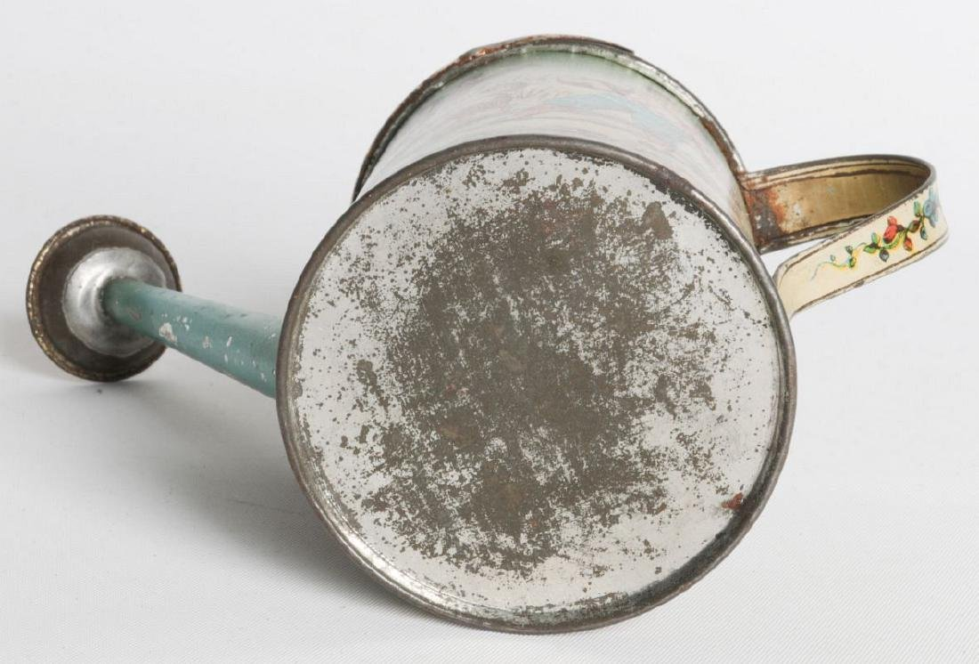 A VICTORIAN CHILD'S TIN LITHO WATERING CAN - 9