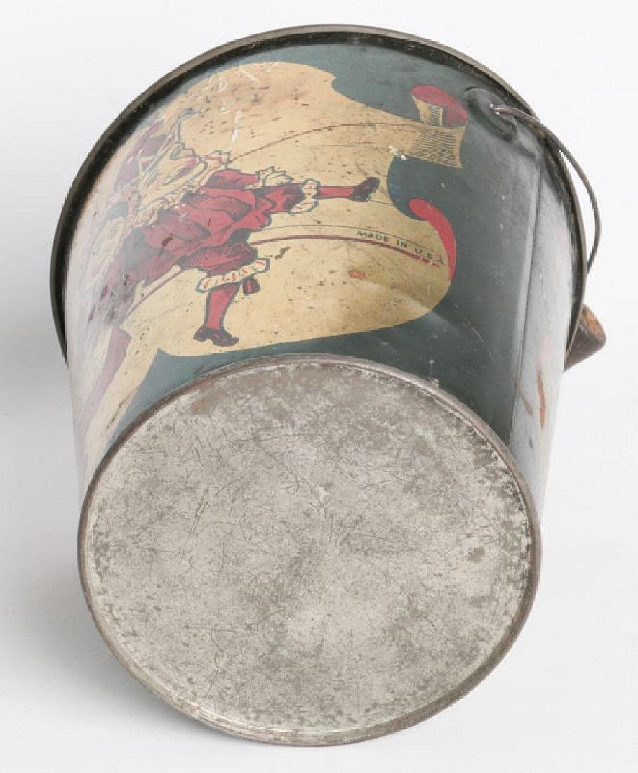 A CIRCA 1905 TIN LITHO CHILD'S SAND PAIL W/ PUNCH - 6