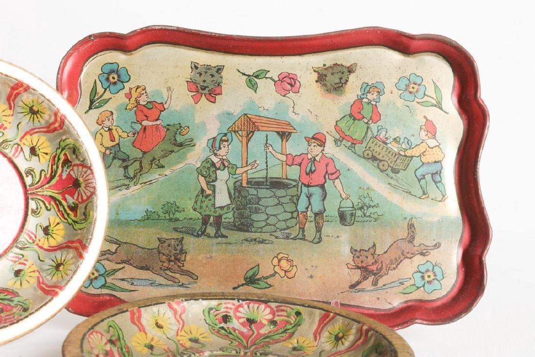 A JACK AND JILL VERSE CHILD'S TIN LITHO TEA SET - 6