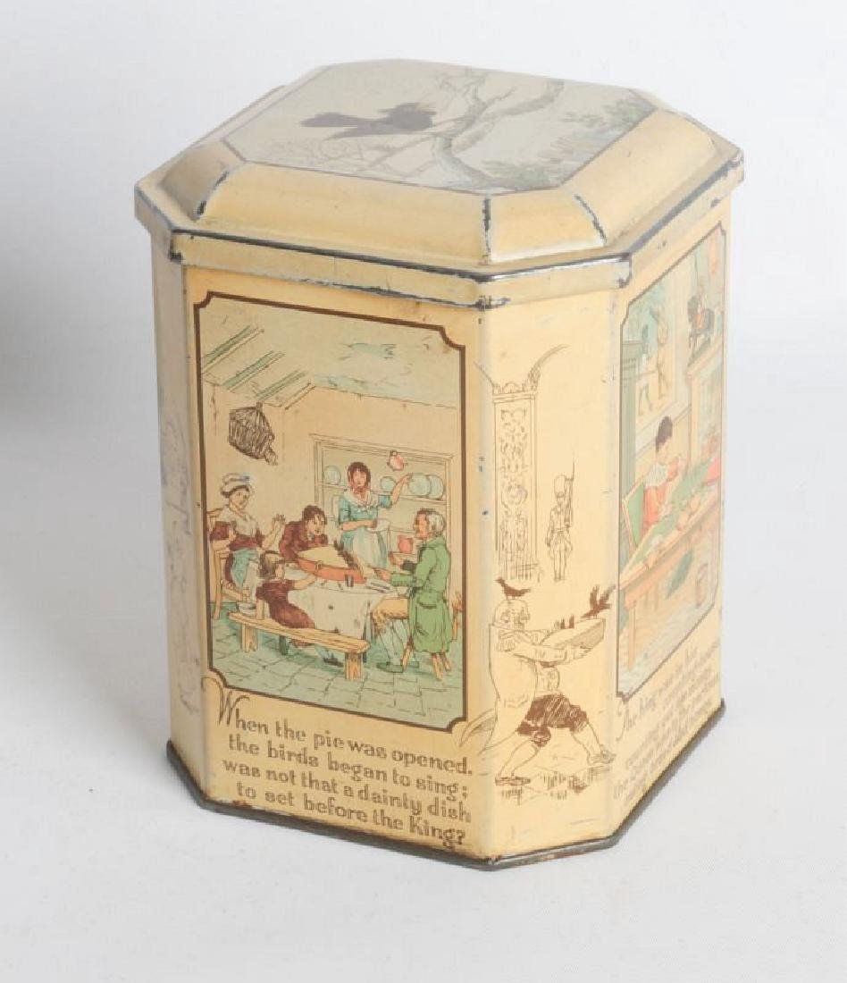 SONG FOR SIX PENCE' TIN LITHO TEA TIN