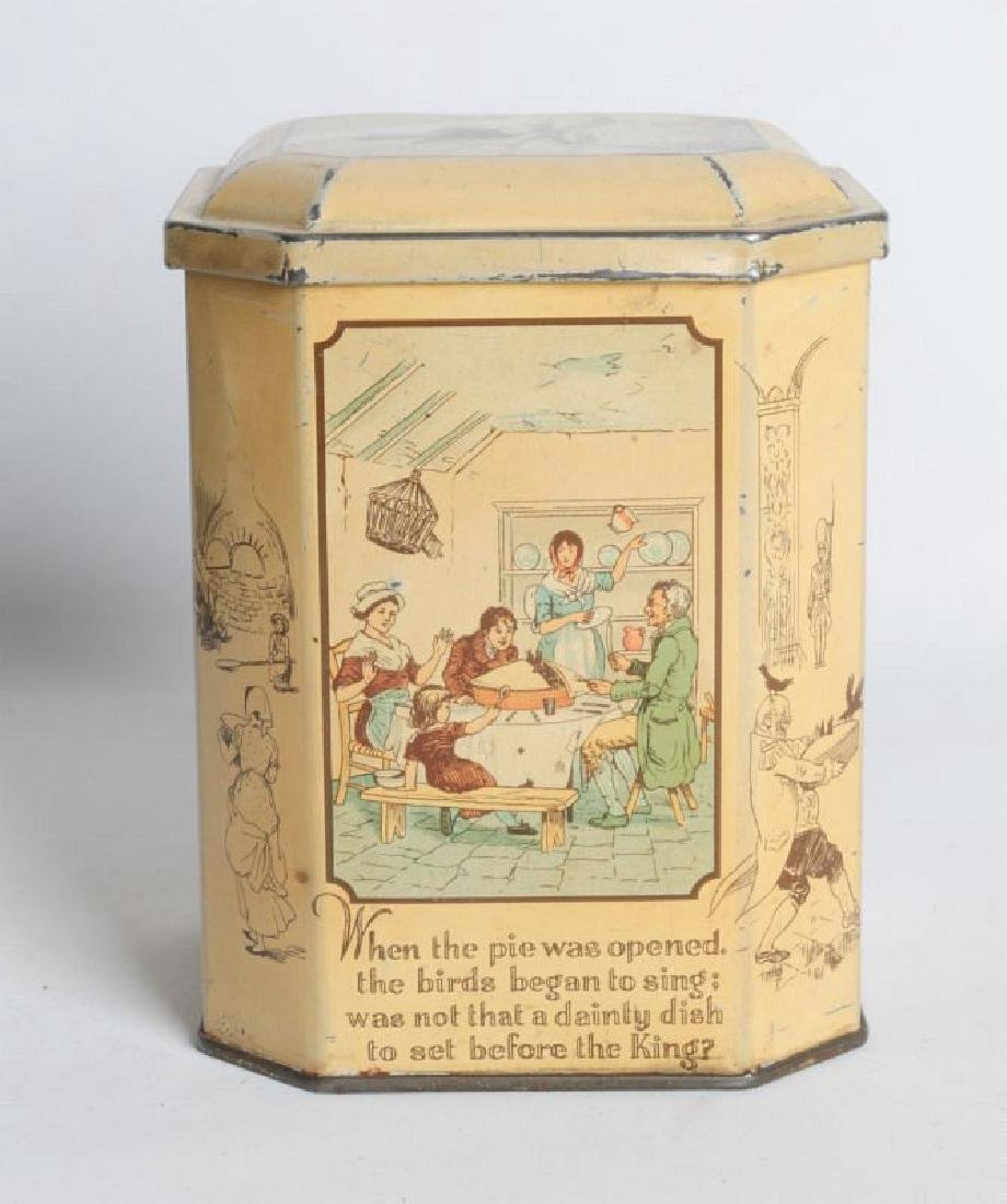 SONG FOR SIX PENCE' TIN LITHO TEA TIN - 2