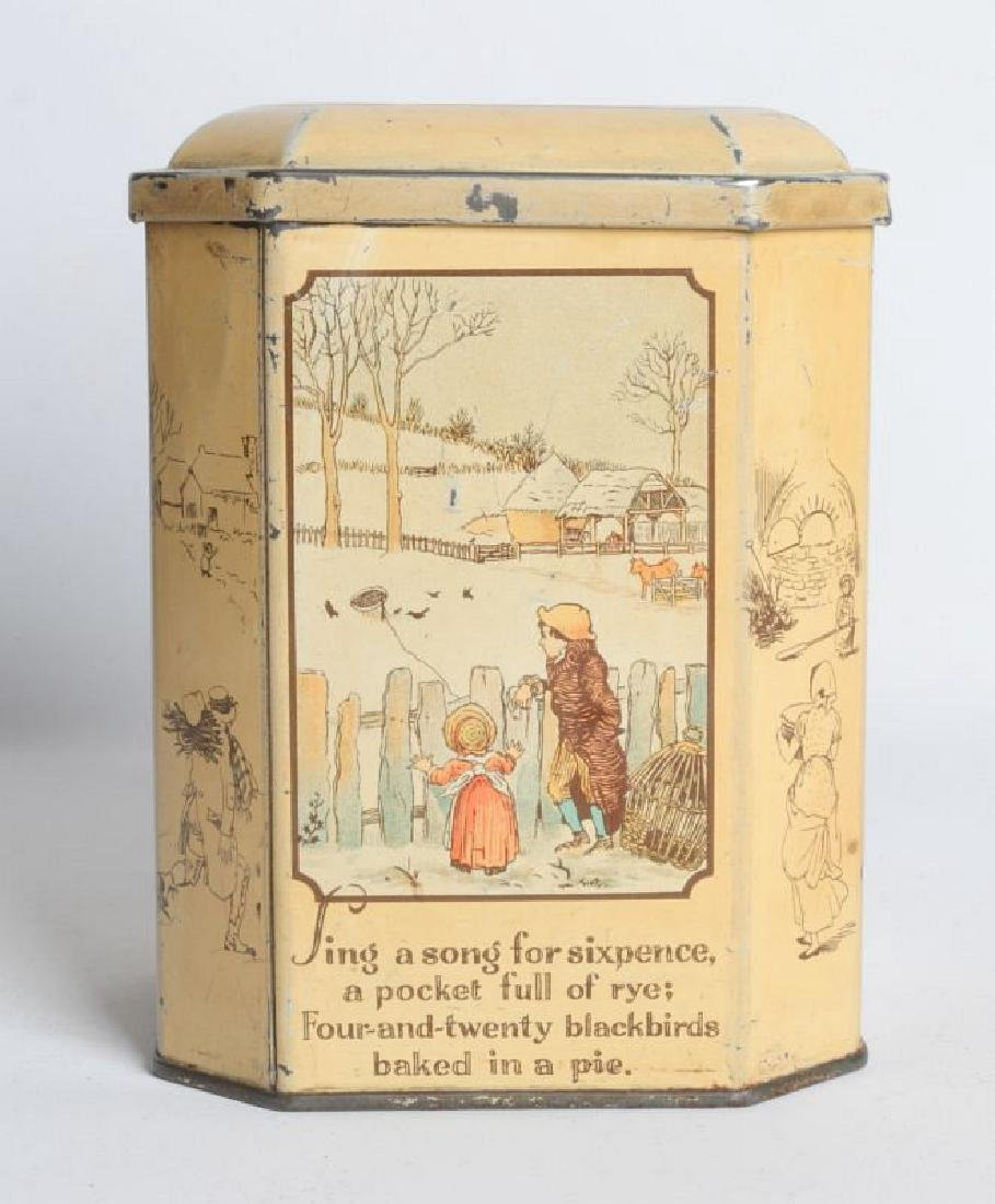 SONG FOR SIX PENCE' TIN LITHO TEA TIN - 3