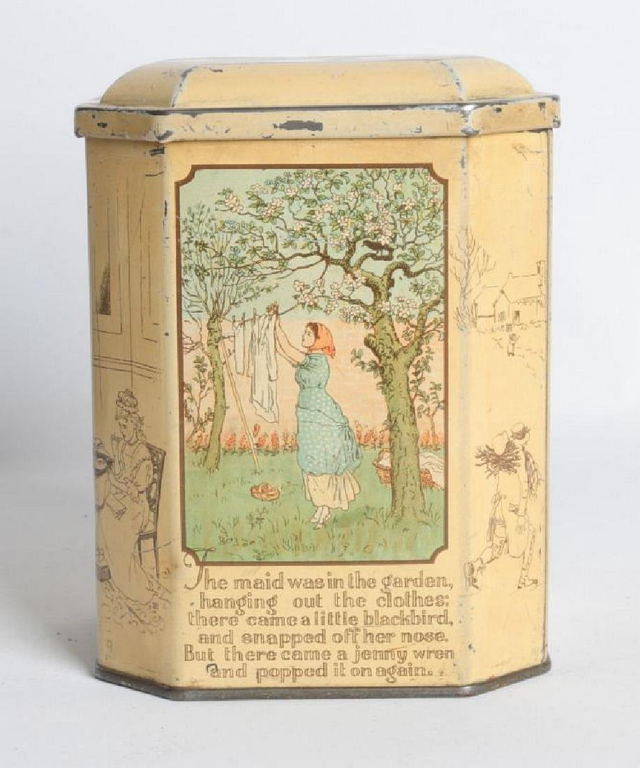 SONG FOR SIX PENCE' TIN LITHO TEA TIN - 4
