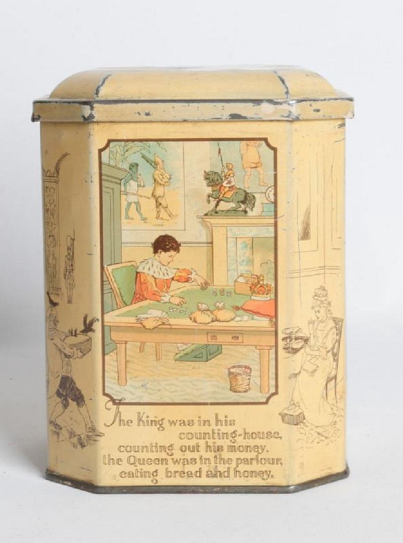 SONG FOR SIX PENCE' TIN LITHO TEA TIN - 5