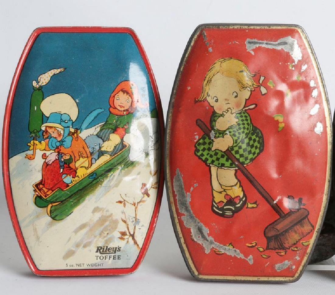 FOUR RILEY'S TOFFEE TIN LITHO TOFFEE TINS - 2
