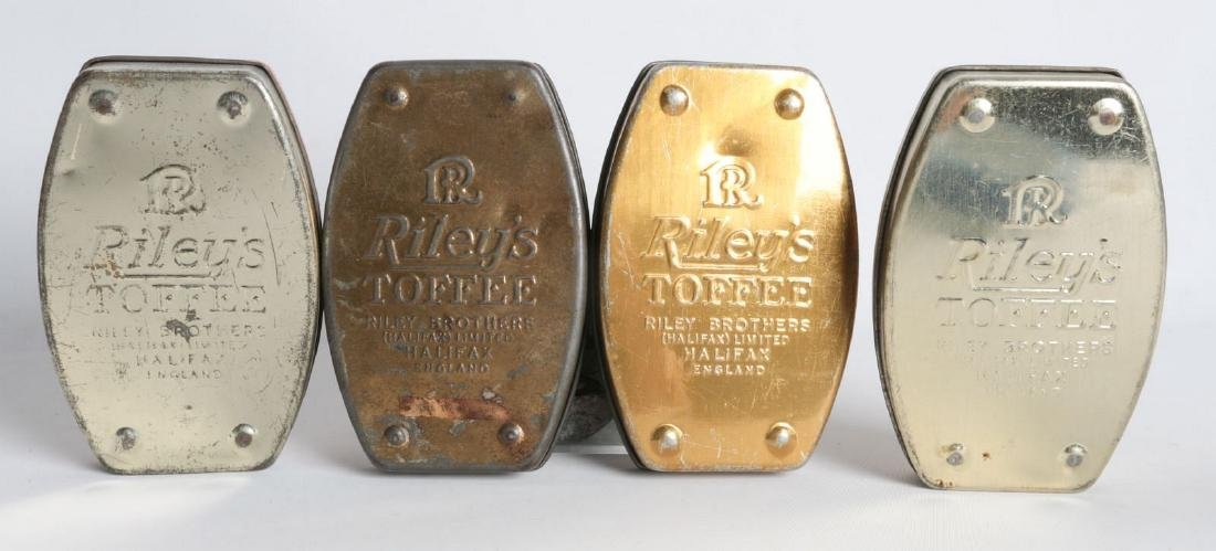 FOUR RILEY'S TOFFEE TIN LITHO TOFFEE TINS - 6