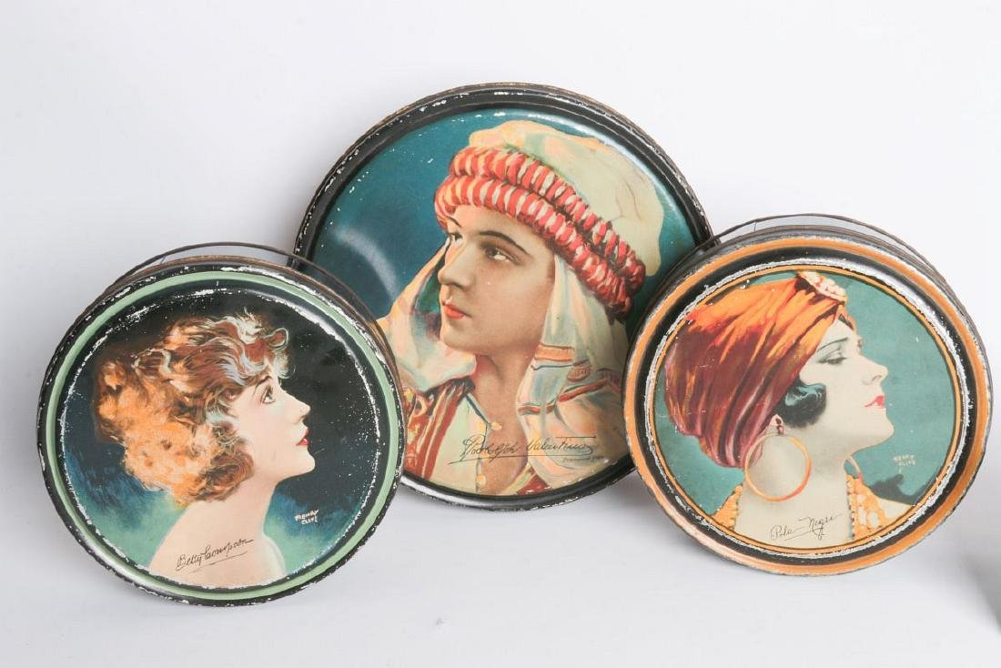 THREE HENRY CLIVE TIN LITHO CONTAINERS