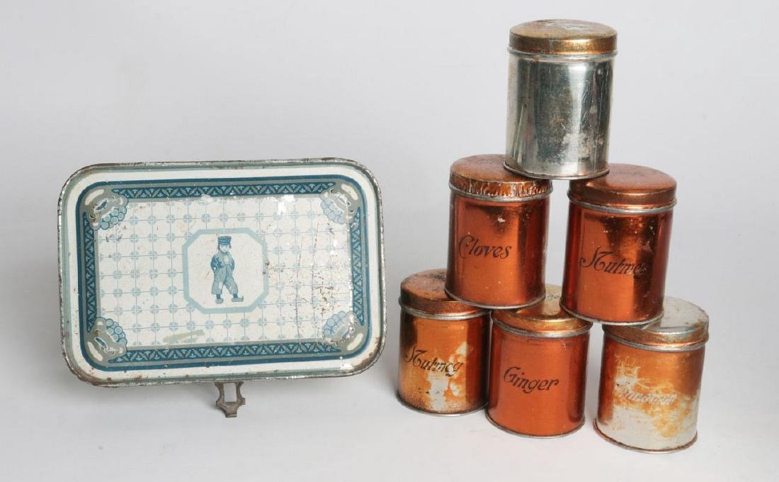 THREE HENRY CLIVE TIN LITHO CONTAINERS - 6