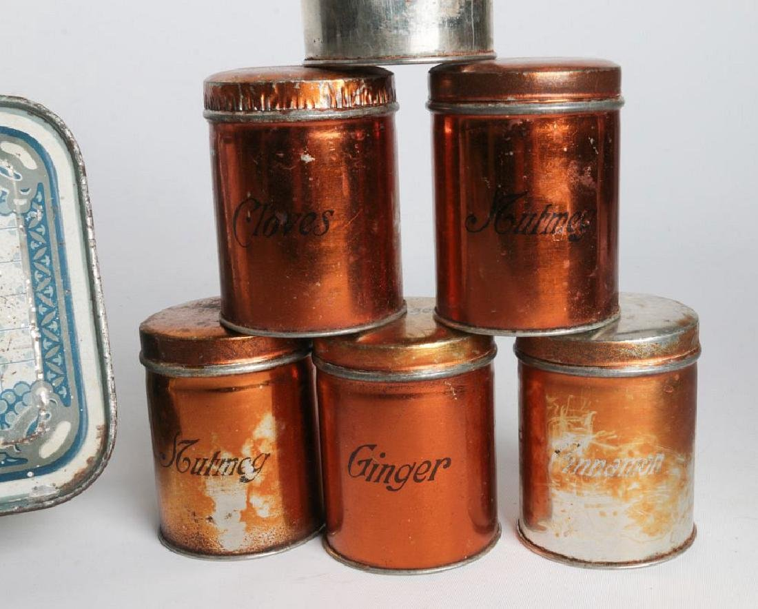 THREE HENRY CLIVE TIN LITHO CONTAINERS - 7