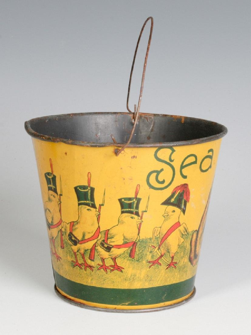 A VICTORIAN CHILD'S TIN LITHO EASTER SAND PAIL - 2