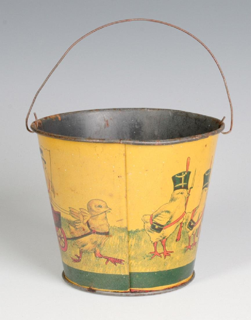 A VICTORIAN CHILD'S TIN LITHO EASTER SAND PAIL - 3